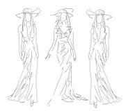 Nakreślenie mody pozy Obraz Royalty Free