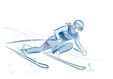 nakreślenie narciarka Zdjęcia Royalty Free