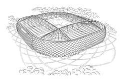 Nakreślenie nowy stadium w Moskwa Obrazy Stock