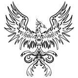 Nakreślenie rysunek Phoenix Obraz Royalty Free