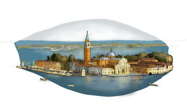 Nakreślenie San Giorgio Ilustracja Wektor