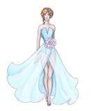 Nakreślenie projektanta ubrania, projektant mody Zdjęcia Stock