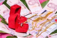 NAKRONPHATHUM THAÏLANDE - 6 JUILLET : Cérémonie de mariage le 6 juillet 2014, MOIS Photos stock