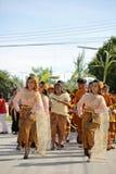 NAKRONPHATHUM THAÏLANDE - 6 JUILLET : Cérémonie de mariage le 6 juillet 2014, Th photographie stock
