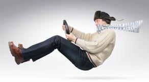 nakrętki kierowcy futerkowa puloweru koła zima Obrazy Royalty Free