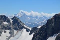 Nakrywać góry, śnieg Zdjęcia Stock