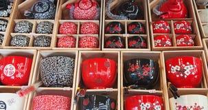 nakrywa chińczyka garnków herbaty tradycyjnej Zdjęcia Royalty Free