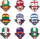 nakrywa kolekci twarzy flaga target875_0_ ilustracji