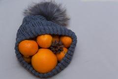 Nakrywa z mandarynka rożkami i pomarańczami Obraz Royalty Free