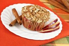 nakrywający granola jabłczany cynamonowy słodka bułeczka Zdjęcia Stock