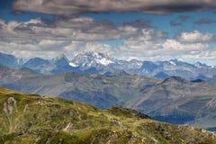 Nakrywający Hochgall, Collalto szczyt w Wysokim Tauern/ Zdjęcie Stock