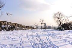 Naksan park snow Stock Photos