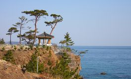 Naksansa (Koreaanse Boeddhistische complexe Tempel) Stock Foto