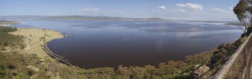 Nakuru National Park Landscape, Kenya. Lake in Nakuru National Park seen from the Baboon Cliff Lookout observation point in Kenya Stock Images