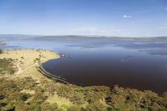 Nakuru National Park Landscape, Kenya Royalty Free Stock Photos