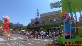 Nal Drive area. Orlando, Florida. May 22, 2019. Sesame Street Party Parade at Seaworld in International Drive area stock video footage
