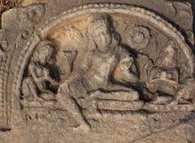 Nalanda старым Будда усаженный камнем стоковая фотография rf