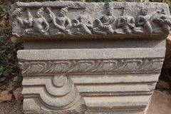 Nalanda Ancient Stone Carving Detail Stock Photography