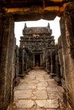 Nalanda Gedige, altes komplettes Steingebäude nahe Matale Stockbilder
