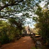 Nalanda Gedige, altes komplettes Steingebäude nahe Matale, Sr Lizenzfreie Stockfotografie
