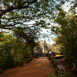 Nalanda Gedige,  ancient complete stone building near Matale, Sr Royalty Free Stock Photography
