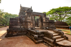 Nalanda Gedige,  ancient complete stone building near Matale, Sr Stock Photography