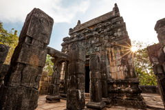 Nalanda Gedige,  ancient complete stone building near Matale, Sr Stock Photography