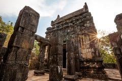 Nalanda Gedige, bâtiment en pierre complet antique près de Matale, Sr photographie stock
