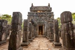 Nalanda Gedige, bâtiment en pierre complet antique près de Matale, Sr images libres de droits