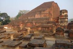 Nalanda tempel Mahasamadhi royaltyfri fotografi
