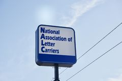 NALC National Association of Letter Carriers. The National Association of Letter Carriers is an American labor union, representing non-rural letter carriers stock photography