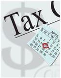 należni Kwiecień podatki Fotografia Stock