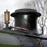 należy zwrócić szczególną tulejowy lokomotyw gwizdek parowy Obrazy Royalty Free