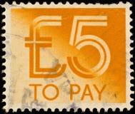 należny British znaczek pocztowy Zdjęcia Royalty Free