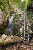 Nalepkov waterfall - Zejmarska valey, Slovakia Royalty Free Stock Photos