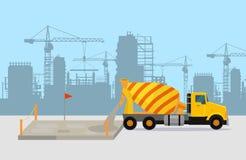Nalewać beton na budowa wektoru pojęciu royalty ilustracja
