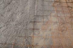 Nalewać cement podczas chodniczka Zdjęcia Stock