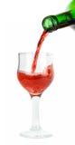 nalewa czerwone wino Zdjęcia Stock