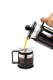 Nalewa kawę Obraz Royalty Free