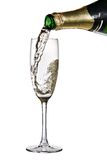 nalewający szampański flet Zdjęcie Stock