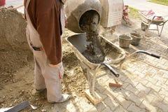 nalewanie betonu Zdjęcia Royalty Free