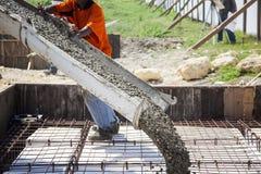 nalewanie betonu Obrazy Stock