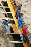nalewanie cementowy zdjęcie royalty free