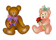 nalle för 2 björn Arkivbilder