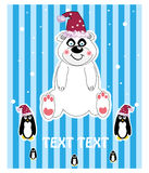 nalle för snow för illustration för björnjulhatt Royaltyfri Bild
