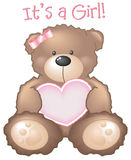 nalle för tecken för björnflicka s royaltyfri illustrationer
