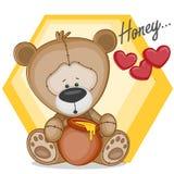 Nalle med honung Royaltyfri Bild