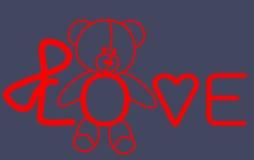 Nallebjörn för förälskelse som märker kortet Royaltyfria Foton