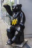Nallebjörn i Berlin, Tyskland Arkivfoton