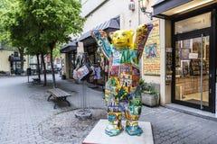 Nallebjörn i Berlin, Tyskland Royaltyfri Foto